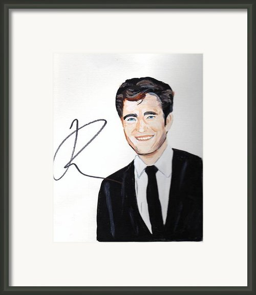 Robert Pattinson 64a Framed Print By Audrey Pollitt