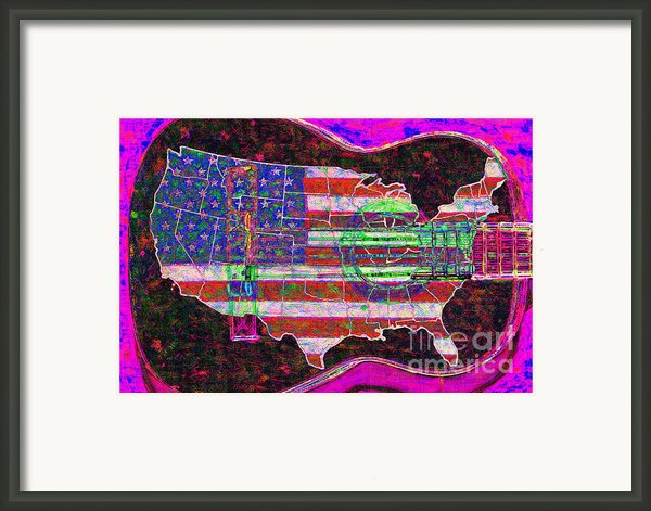 Rock And Roll America 20130123 Violet Framed Print By Wingsdomain Art And Photography