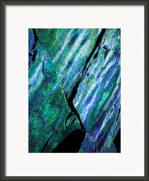 Rock Art 16 In Teal N Violet Framed Print By Bill Caldwell -        Abeautifulsky Photography