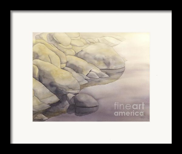 Rock Meets Water Framed Print By Robert Hooper