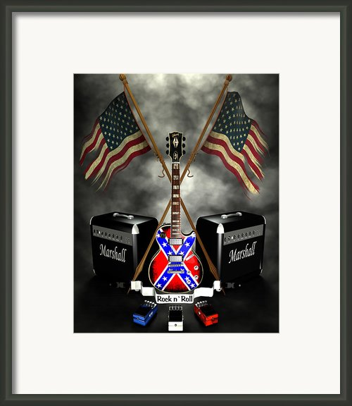 Rock N Roll Crest- Usa Framed Print By Frederico Borges