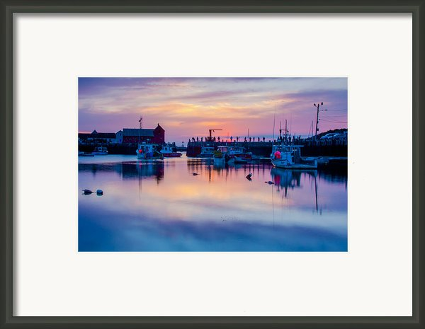 Rockport Harbor Sunrise Over Motif #1 Framed Print By Jeff Folger