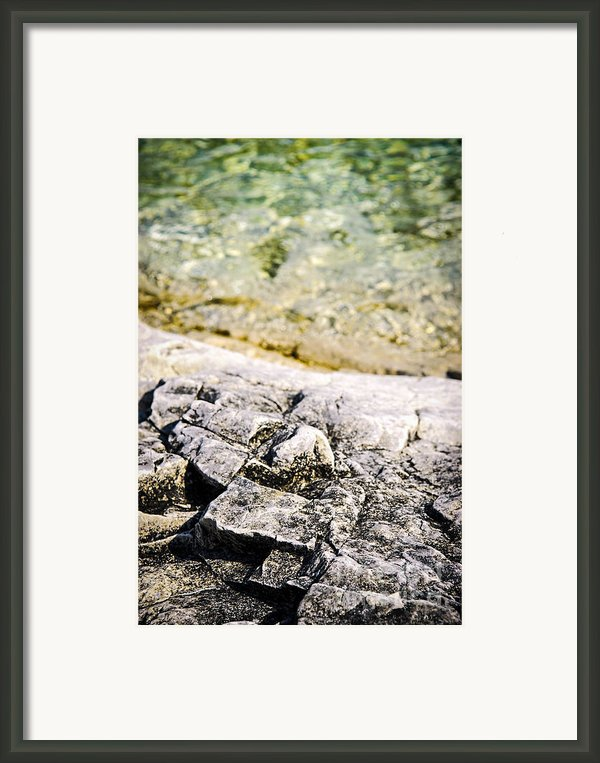 Rocks At Georgian Bay Framed Print By Elena Elisseeva