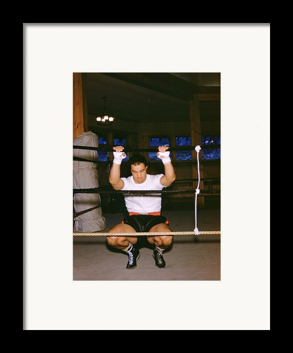 Rocky Marciano Stretching Framed Print By Retro Images Archive