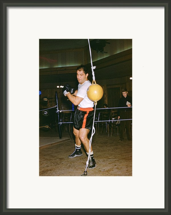 Rocky Marciano Training Hard Framed Print By Retro Images Archive
