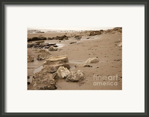 Rocky Shore Framed Print By Amanda Barcon