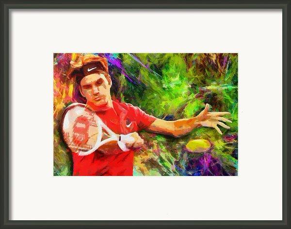 Roger Federer Framed Print By Rochvanh