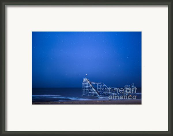 Roller Coaster Stars Framed Print By Michael Ver Sprill