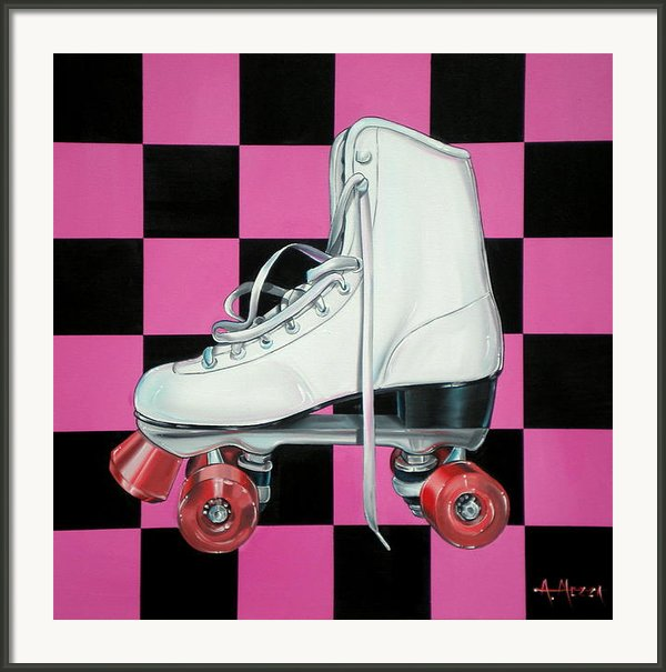 Roller Skate Framed Print By Anthony Mezza