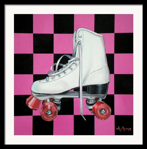 Roller Skate Framed Print By Anthony Mezza