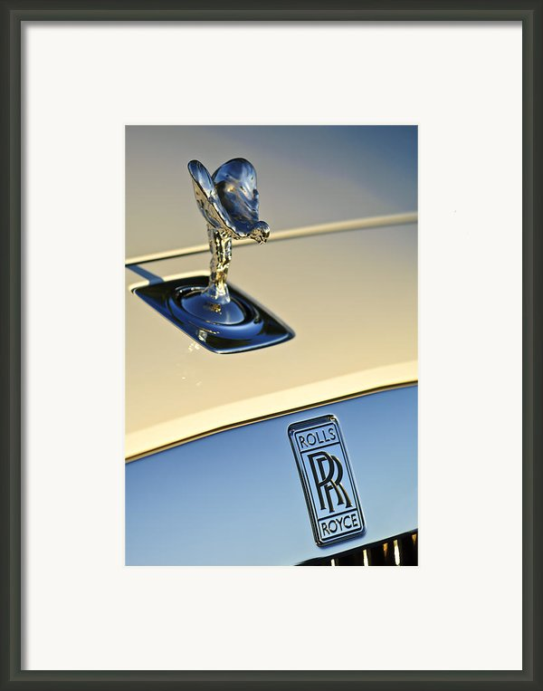Rolls-royce Hood Ornament 3 Framed Print By Jill Reger