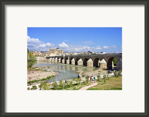 Roman Bridge In Cordoba Framed Print By Artur Bogacki