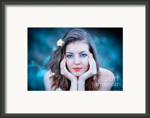 Romantic Portrait Framed Print By Gabriela Insuratelu