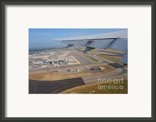 Rome Airport From An Aircraft Framed Print By Sami Sarkis