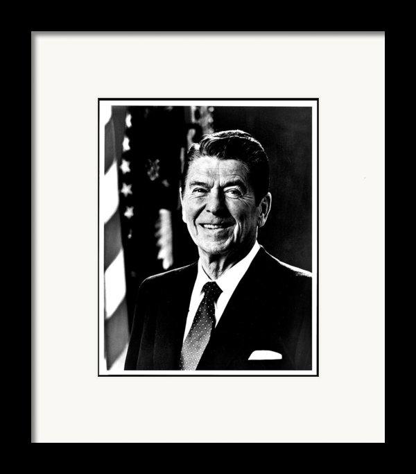 Ronald Reagan Framed Print By Benjamin Yeager
