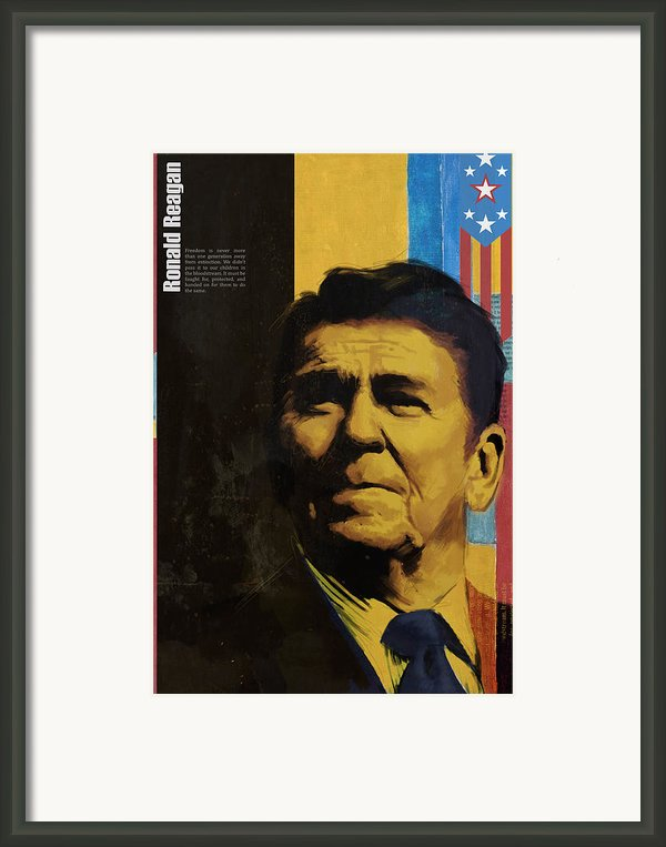 Ronald Reagan Framed Print By Corporate Art Task Force