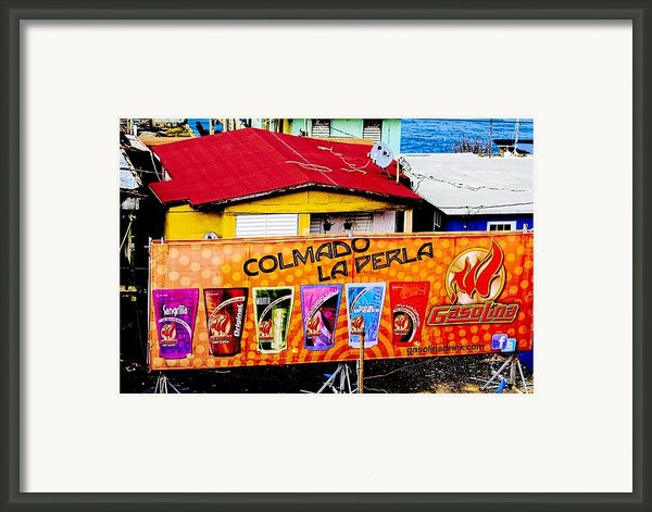 Roots Of La Perla At Old San Juan Framed Print By Sandra Pena De Ortiz