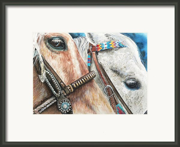 Roping Horses Framed Print By Nadi Spencer