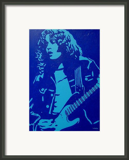 Rory Gallagher Framed Print By John  Nolan