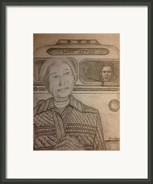 Rosa Parks Imagined Progress Framed Print By Irving Starr