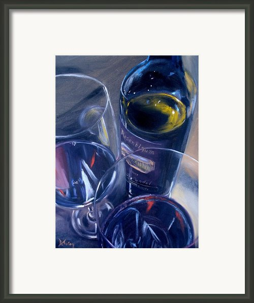 Rosenblum And Glasses Framed Print By Donna Tuten