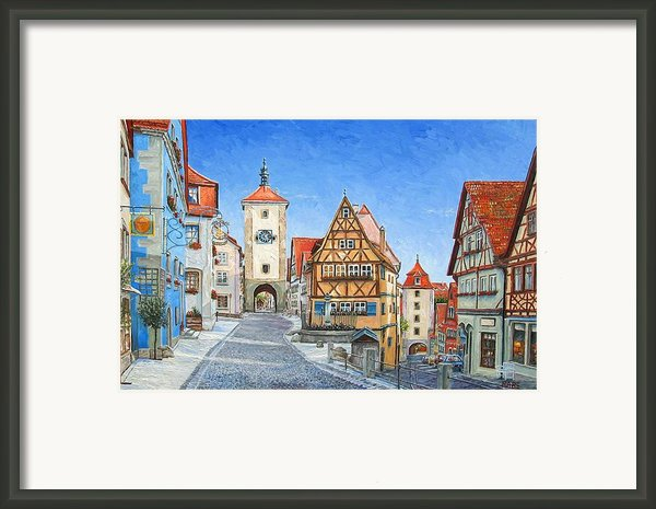 Rothenburg Germany Framed Print By Mike Rabe