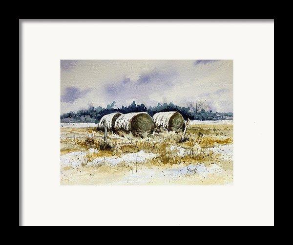 Round Bales Framed Print By Sam Sidders
