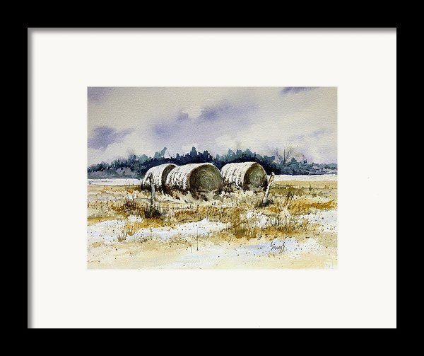 Round Bales Framed Print By Sam Sidders