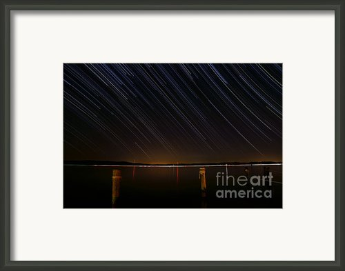 Round Bay Startrails Framed Print By Benjamin Reed