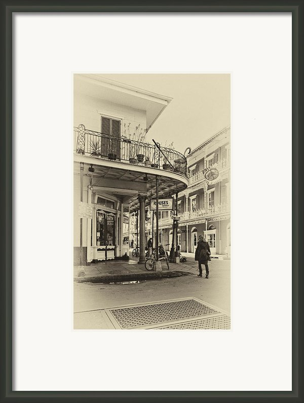 Rouses Market Sepia Framed Print By Steve Harrington