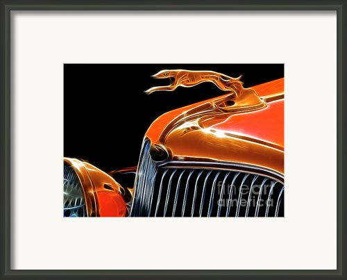 Route 66 Classic Car 66 Framed Print By Bob Christopher