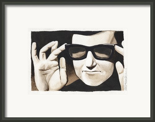 Roy Orbison Framed Print By David Shumate