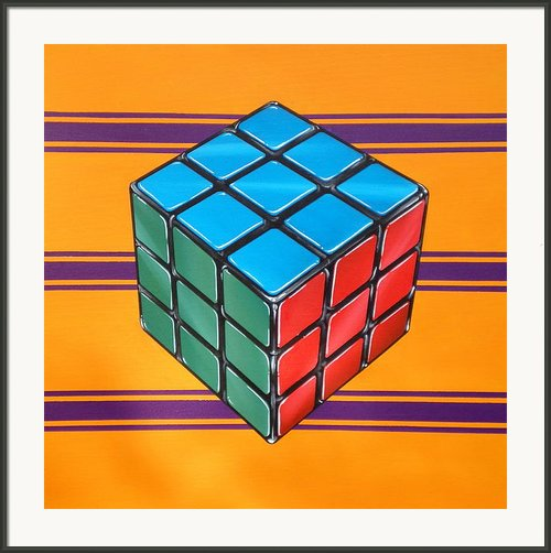 Rubiks Framed Print By Anthony Mezza