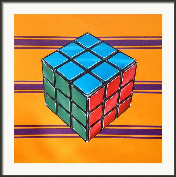 Rubiks Framed Print By Anthony Mezza