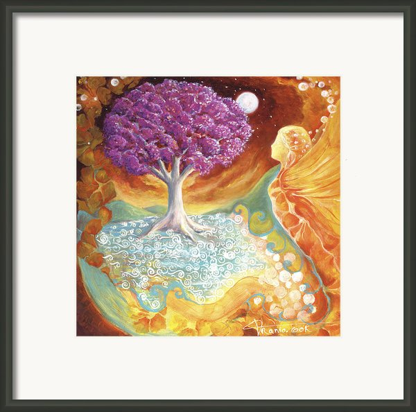Ruby Tree Spirit Framed Print By Valerie Graniou-cook