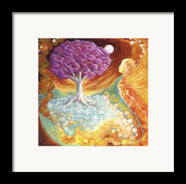 Ruby Tree Spirit Framed Print By Valerie Graniou-cook