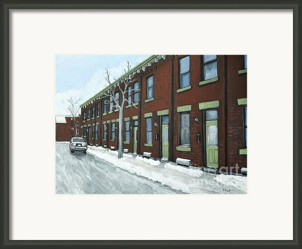 Rue Grand Trunk Pointe St. Charles Framed Print By Reb Frost