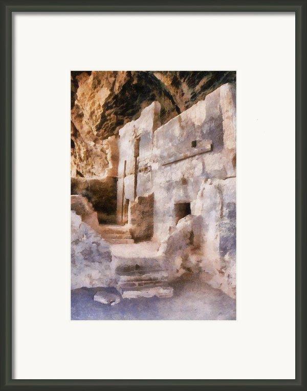 Ruins Framed Print By Michelle Calkins