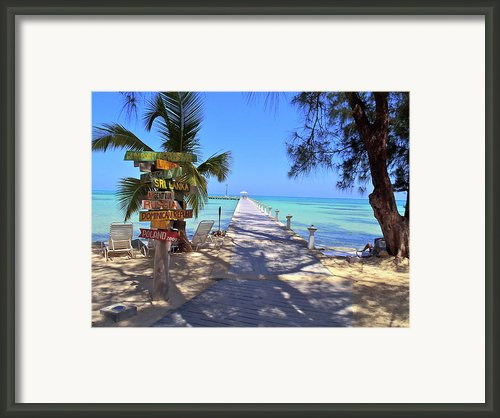 Rum Point Framed Print By Carey Chen