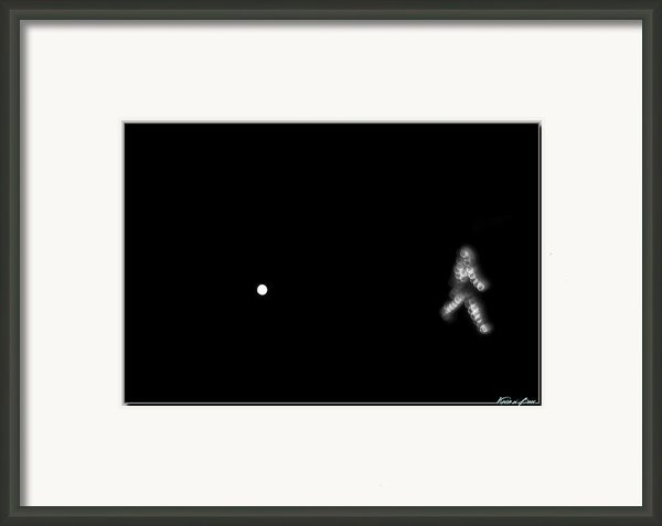 Run From The Moon Framed Print By Kevin Beer