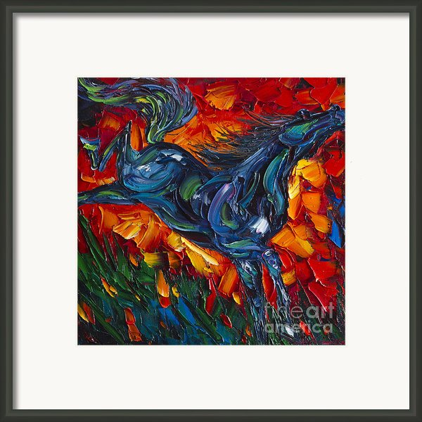 Running Horse Framed Print By Willson Lau