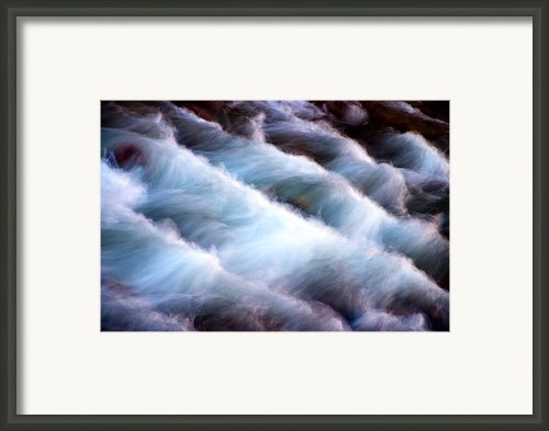 Rushing Framed Print By Adam Romanowicz