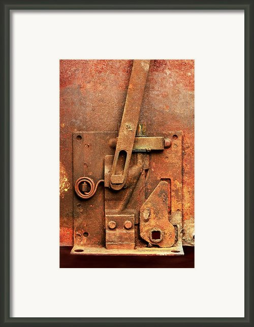 Rusted Latch Framed Print By Jim Hughes