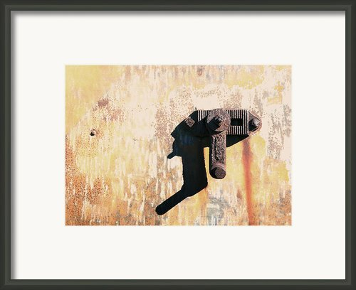 Rusted Metal Abstraction Framed Print By Ann Powell