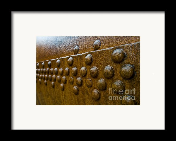 Rusted Whaling Machinery Framed Print By John Shaw
