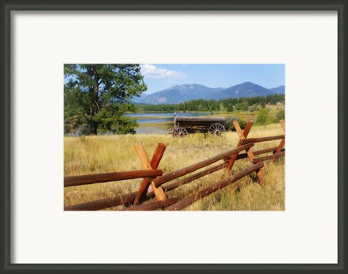Rustic Wagon Framed Print By Marty Koch
