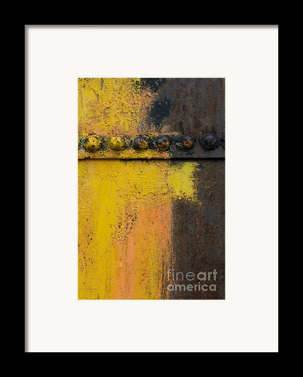 Rusting Machinery Framed Print By John Shaw
