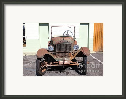Rusty Old Ford Jalopy 5d24642 Framed Print By Wingsdomain Art And Photography