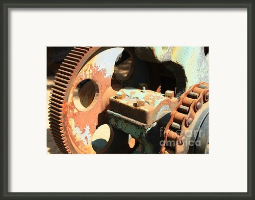 Rusty Wheel Gear Framed Print By Carol Groenen