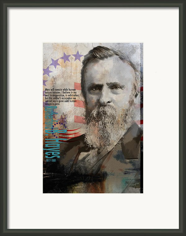 Rutherford B. Hayes Framed Print By Corporate Art Task Force